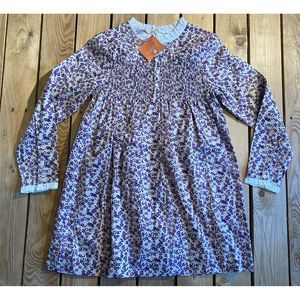 NWT Gocco Girls Floral Buttoned Longsleeve Dress